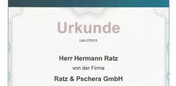 Wir sind zertifiziert – Anerkennung als Errichterunternehmen durch Kripo