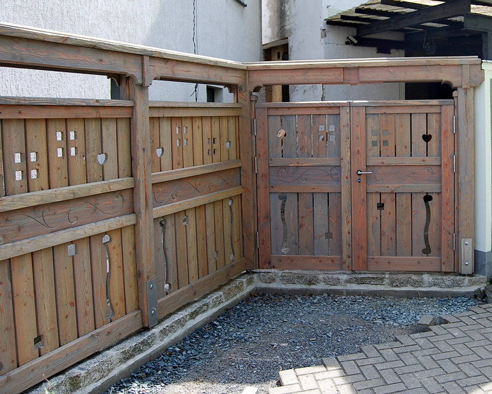 Gartenzaun Pergola und Terrasse