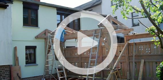 Entstehungsfilm – Bau einer Gartenzaunanlage und Terrasse