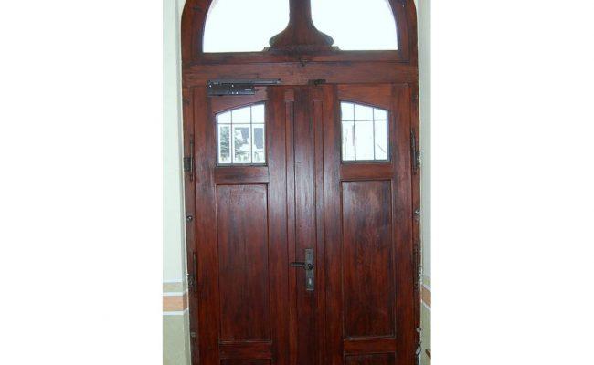 Sanierung Haustür im Jugendstil vorher