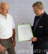 EHRUNG – Silberne Meisterbrief für Hermann Ratz