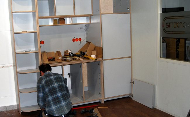 Aufbau Küchenteil Showroom für Velometrik GmbH