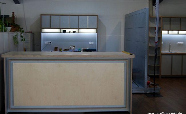 Empfangstresen Showroom für Velometrik GmbH